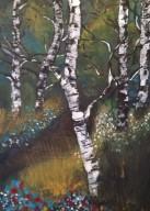 Vår, 2015, Akryl på canvas,24*33 cm, ARTEX, Såld.