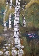 Näckrosor, 2015, Akryl på canvas, 24*33 cm. ARTEX, Såld.
