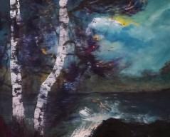 Sandra Törnroth (f.1980), Storm, Akryl på canvas, 27*22 cm, 125 EUR (inkl. moms)