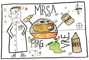 Sandra Törnroth, Mr Multiresistent mår dåligt! Han behöver mer penicillin!, 2016.